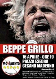 Beppe Grillo a Cesano Maderno